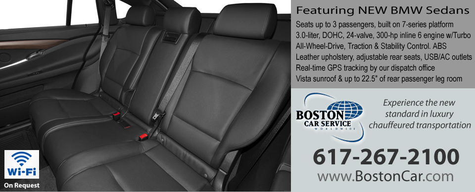 Inside 2013 BMW Sedans by Boston Car Service